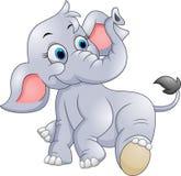 Cute baby elephant cartoon. Illustration of Cute baby elephant cartoon Royalty Free Stock Photo