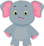 Cute baby elephant cartoon Royalty Free Stock Photos