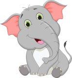 Cute baby elephant cartoon. Vector illustration of cute baby elephant cartoon Royalty Free Stock Photos