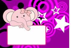 Cute baby elephant girl background Stock Photography