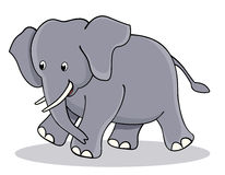 Cute baby elephant vector illustration