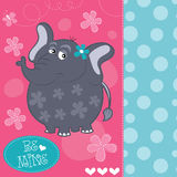 Cute baby elephant vector illustration Royalty Free Stock Photography