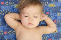 Cute baby enjoying sleeping portrait. Cute baby girl enjoying sleeping portrait face Royalty Free Stock Photos