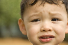 Cute Baby Eyes. Portrait of a baby boy where focus is only centered around the left eye Stock Photos