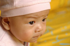 Cute baby face. It is a cute chinese baby. he is 3 months Stock Image