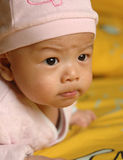 Cute baby face. It is a cute chinese baby. he is 3 months Royalty Free Stock Images