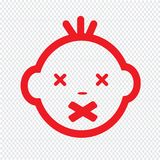 Cute Baby Face Emotion Icon Illustration symbol design Stock Photography