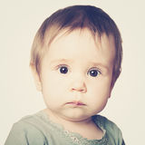 Cute baby face, portrait Stock Photography