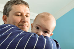 Cute baby and father Stock Photography