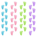 Cute baby foot prints Royalty Free Stock Images