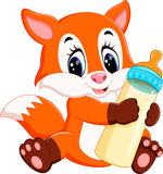 Cute baby fox cartoon Royalty Free Stock Photo