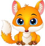 Cute baby fox cartoon Stock Photography