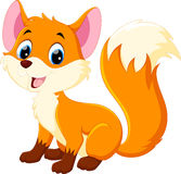 Cute baby fox cartoon Stock Photo