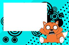 Cute baby fox expressions cartoon background Royalty Free Stock Photo