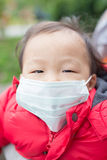 Cute baby get cold Stock Images