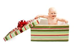 Cute baby in gift box Stock Photo