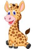 Cute Baby Giraffe Cartoon Royalty Free Stock Photo