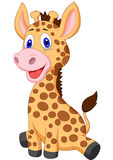 Cute baby giraffe cartoon Royalty Free Stock Photo