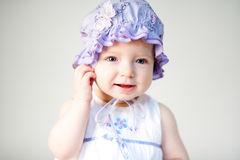 Cute baby girl Stock Images