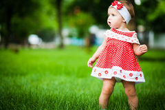 Cute baby-girl Stock Images