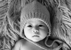 Cute baby girl from Asia pose stock image