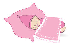 Cute Baby girl Baby boy twin baby vector Royalty Free Stock Photo