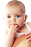 Cute baby girl with beautiful eyes Royalty Free Stock Images