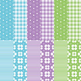 Cute baby girl and boy pattern collection Stock Photography