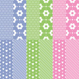 Cute baby girl and boy pattern collection vector illustration