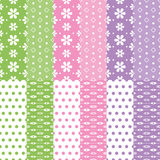 Cute baby girl and boy pattern collection Royalty Free Stock Photography