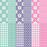 Cute baby girl and boy pattern collection Stock Images
