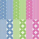 Cute baby girl and boy pattern collection Stock Photo