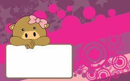 Cute baby girl camel cartoon background copyspace Stock Images
