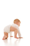 Cute Baby Girl Crawling Stock Images