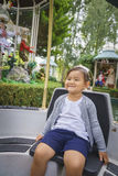Cute baby girl in Europa Park in Rust, Germany. Royalty Free Stock Image