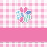 Cute baby girl greeting card Stock Image