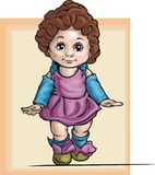 Cute Baby Girl Illustration Stock Images