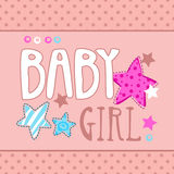 Cute baby girl  illustration Stock Photography
