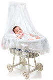 Cute Baby Girl In A Carriage Royalty Free Stock Photos