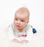 Cute baby girl isolated Royalty Free Stock Images