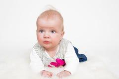 Cute baby girl isolated Stock Photos