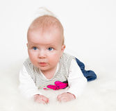 Cute baby girl isolated Royalty Free Stock Photos