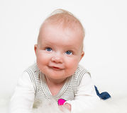 Cute baby girl isolated Royalty Free Stock Photo