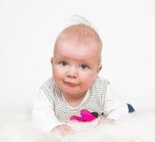 Cute baby girl isolated Stock Image