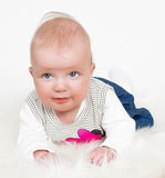 Cute baby girl isolated Stock Photography