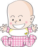 Cute baby girl laugh Stock Photo