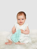 Cute baby girl looking at camera Royalty Free Stock Photo