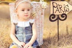 Cute baby girl otdoors Royalty Free Stock Photos