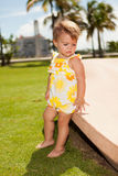 Cute baby girl outdoors Royalty Free Stock Photography