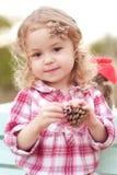 Cute baby girl outdoors Stock Photos